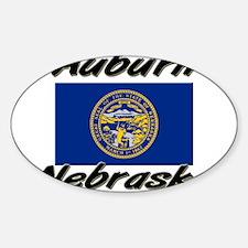 Auburn Nebraska Oval Decal