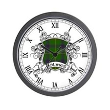 Holmes Tartan Shield Wall Clock