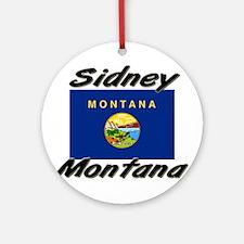Sidney Montana Ornament (Round)