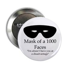 "2.25"" Mask of a 1000 Faces Discipline Pin"