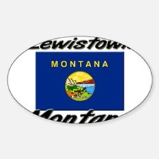 Lewistown Montana Oval Decal
