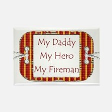 Daddy Fireman Rectangle Magnet