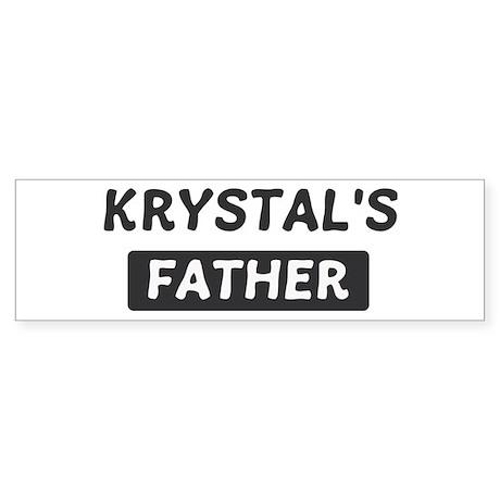 Krystals Father Bumper Sticker (10 pk)