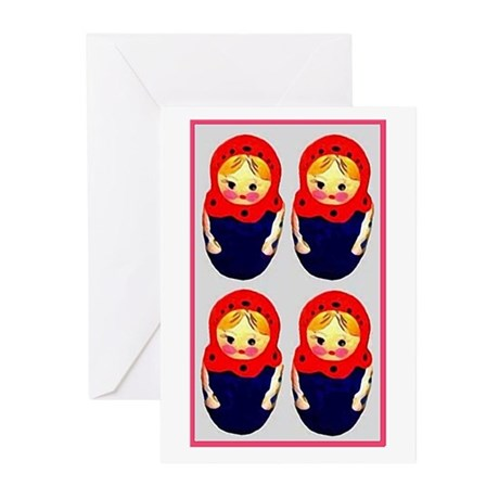 Russian Dolls Blank Greeting Cards (Pk of 10)