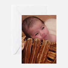 Baseball Baby Greeting Card