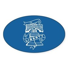 Retro Liberty Bell Oval Decal