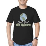 Best Dad On Earth Men's Fitted T-Shirt (dark)