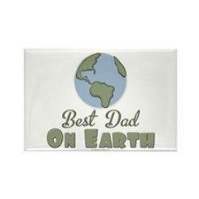 Best Dad On Earth Rectangle Magnet