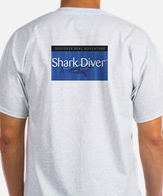 Shark Divers Double Shark Ash Grey T-Shirt
