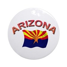 Arizona State Flag Ornament (Round)