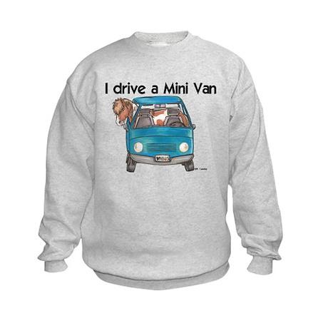 Drive Mini Van Kids Sweatshirt