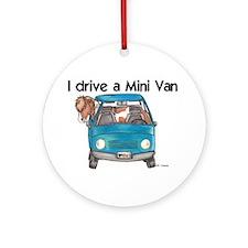 Drive Mini Van Ornament (Round)
