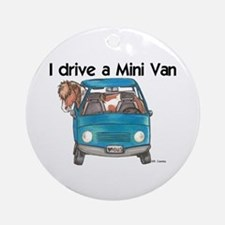 Drive Mini Van Ornament (Round)