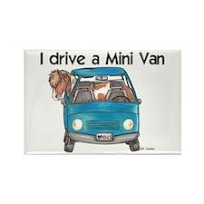 Drive Mini Van Rectangle Magnet
