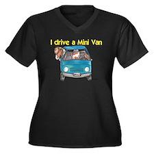 Drive Mini Van Women's Plus Size V-Neck Dark T-Shi