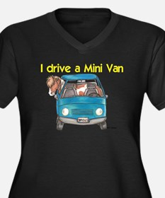 Drive Mini Van Women's Plus Size V-Neck Dark T-Shi