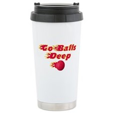 Dodgeball - Go Balls Deep Travel Mug