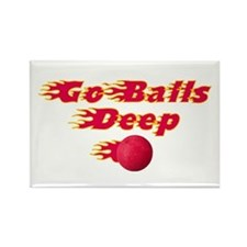 Dodgeball - Go Balls Deep Rectangle Magnet