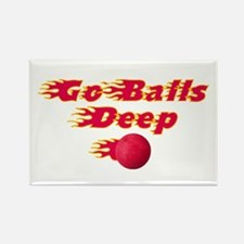 Dodgeball - Go Balls Deep Rectangle Magnet