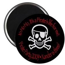 "Xander's Pirate Birthday 2.25"" Magnet (10 pac"