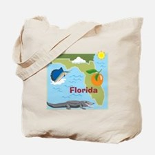 Florida Map Tote Bag