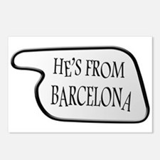 He's from Barcelona Postcards (Package of 8)