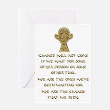 Cute Big obama Greeting Card