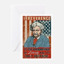 Mark Twain Irreverence Greeting Card