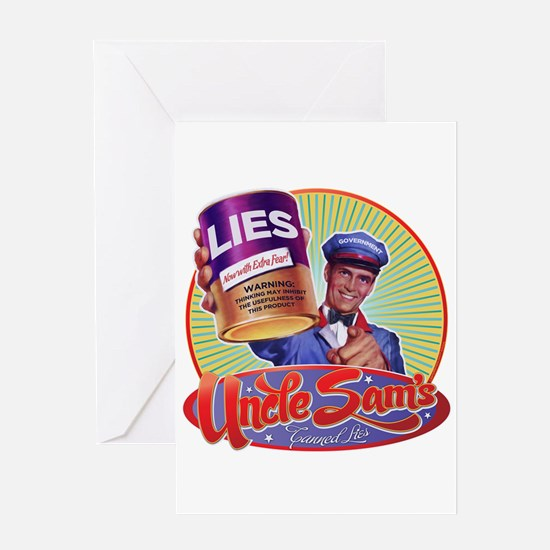 Uncle Sam's Canned Lies Greeting Card