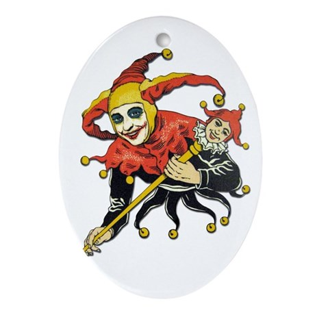 This Joker's On You! Oval Ornament