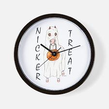 Nicker Treat Wall Clock