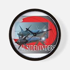 Dual Sidewinder Wall Clock