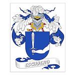 Escudero Coat of Arms Small Poster