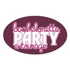 Bachelorette Entourage Oval Decal