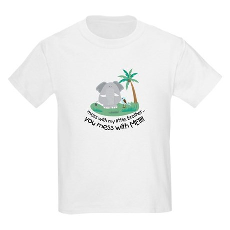 don't mess with little brother t-shirt Kids Light