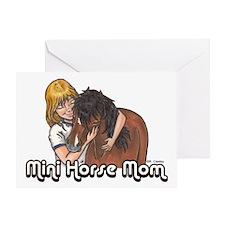 Mini Horse Mom Greeting Card