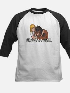 Mini Horse Mom Kids Baseball Jersey