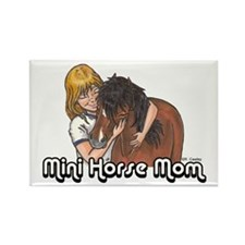 Mini Horse Mom Rectangle Magnet