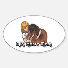 Mini Horse Mom Oval Decal