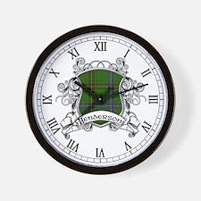 Henderson Tartan Shield Wall Clock