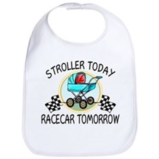 Stroller Today, Racecar Tomor Bib