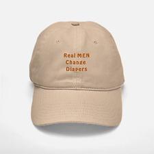Real Men Change Diapers Dad Baseball Baseball Cap