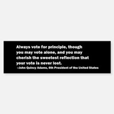 John Quincy Adams Quote Bumper Bumper Bumper Sticker