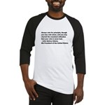 John Quincy Adams Quote Baseball Jersey