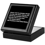 John Quincy Adams Quote Keepsake Box