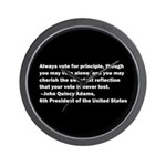 John Quincy Adams Quote Wall Clock
