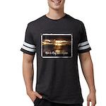 Push It Lawnmower Organic Men's Fitted T-Shirt (da