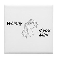 Whinny if you Mini Tile Coaster