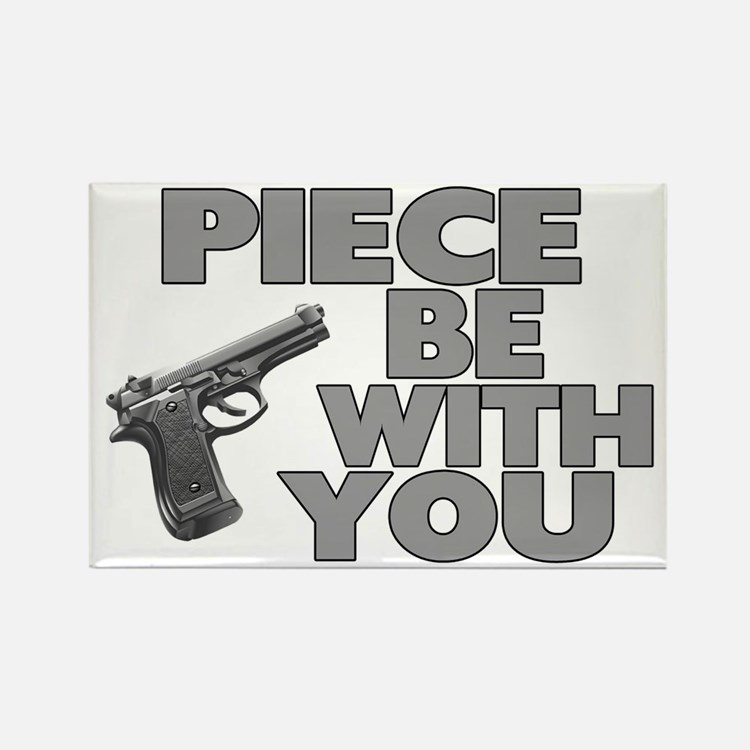 Piece Be With You Rectangle Magnet