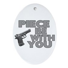 Piece Be With You Oval Ornament